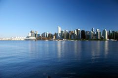 Canada Place en Vancouver van de binnenstad, BC Stock Afbeeldingen