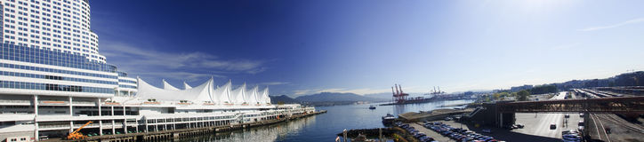 Canada Place in Harbour of Vancouver Canada stock photos