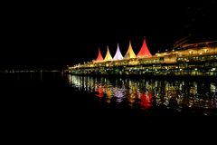 Canada Place at night Stock Photography