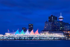Canada Place Night Sails Royalty Free Stock Images