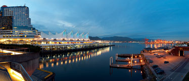 Canada Place Panorama Royalty Free Stock Image