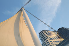 Canada place sail and building Stock Photo