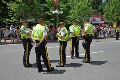 Canada police on guard Royalty Free Stock Images