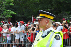 Canada police on guard Stock Image