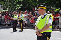 Canada police on guard, Ottawa. RCMP police on guard on Canada Day, Ottawa, Canada Stock Photos