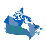 Canada political vector map. Pictogram stock illustration
