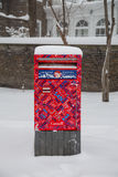 Canada Post Box in the Snow Stock Photos