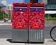 Canada Post Boxes Stock Images
