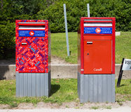 Canada Post Mail Boxes Royalty Free Stock Image