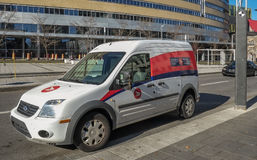 Canada Post Vehicle Royalty Free Stock Photography