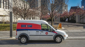 Canada Post Vehicle Stock Photo