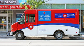 Canada Post Vehicle. Canada Post office Vehicle parked in a street in Toronto Royalty Free Stock Photo