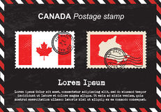 Canada Postage stamp, vintage stamp, air mail envelope. Royalty Free Stock Image