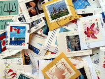Canada postage stamps Royalty Free Stock Photography