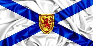 3d waving flag of Nova Scotia, silk texture fabric. Canada provinces set-3d waving flag of Nova Scotia, silk texture fabric Stock Images