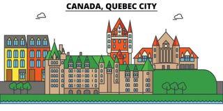 Canada, Québec Architecture d'horizon de ville Editable Photographie stock