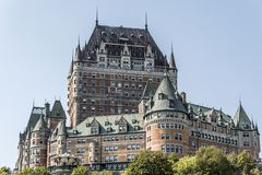 Canada Quebec City Chateau Frontenac most famous tourist attraction UNESCO World Heritage Site Stock Images