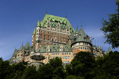 Canada, Quebec, Frontenac castle Stock Image