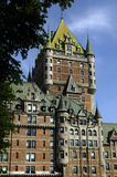 Canada, Quebec, Frontenac castle Stock Images