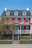 Canada. Quebec, Trois Rivieres, typical houses in Forges street Royalty Free Stock Photography