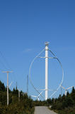 Canada, Quebec, wind generator in Cap Chat in Gaspesie. Canada, Quebec, vertical wind generator in Cap Chat in Gaspesie Royalty Free Stock Photography