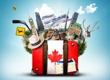 Canada, rétro valise photos stock