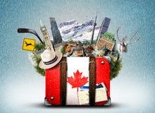 Canada, rétro valise photo stock