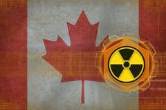 Canada radioactive threat. Radiation hazard concept. Royalty Free Stock Photography