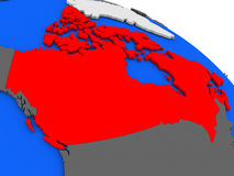 Canada in red Royalty Free Stock Image