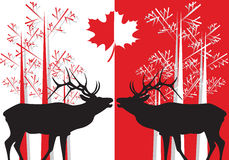 Canada related symbols Royalty Free Stock Images