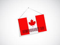 Canada remembrance day banner sign illustration Royalty Free Stock Photography