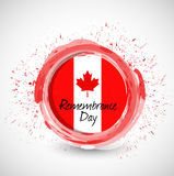 Canada remembrance day ink sign illustration Royalty Free Stock Photography