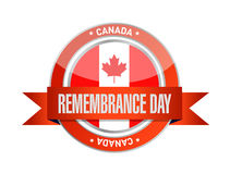 Canada remembrance day seal illustration design. Over a white background Stock Images