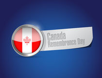 Canada remembrance day seal sign Royalty Free Stock Image