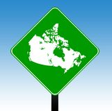Canada road sign Royalty Free Stock Photos