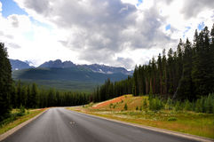 Canada Rocky Mountains. A view of Banff national park along the Bow Valley parkway Stock Photography