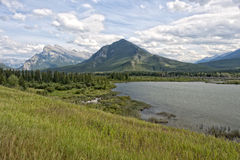 Canada Rocky Mountains Panorama royalty free stock images