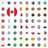 Canada round flag icon. Round World Flags Vector illustration Icons Set. Canada round flag icon. Round World Flags Vector illustration Icons Set Royalty Free Stock Images