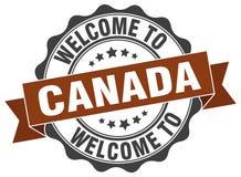 Canada round ribbon seal Stock Photography