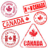 Canada Rubber Stamps Stock Photos