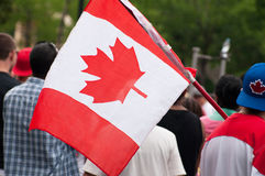 Canada's day. People walking on the street during Canada's day Royalty Free Stock Photography