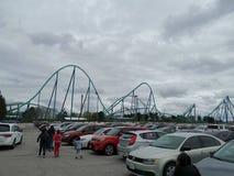 Canada& x27; s de achtbaan van het Sprookjesland stock afbeelding