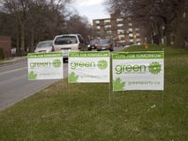 Canada's Election Street Signs Royalty Free Stock Photos