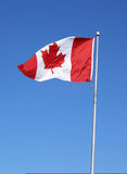 Canada's flag. Photo of canada's flag waiving froud on the air royalty free stock photo