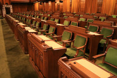Canada's House of Commons. The floor of the Canadian House of Commons in the National Parliament royalty free stock photography