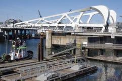 Canada`s largest single-leaf bascule bridge royalty free stock image