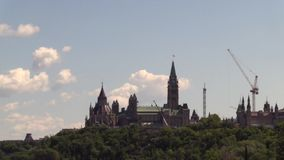 Canada's Museum of History. On a summer day stock footage
