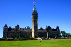 Canada's Parliament. Located in Ottawa, Ontario, Canada royalty free stock photography