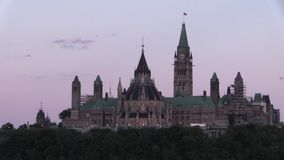 Canada's Parliament buildings in the summer stock video footage