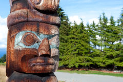 canada słupa totem Vancouver Fotografia Royalty Free